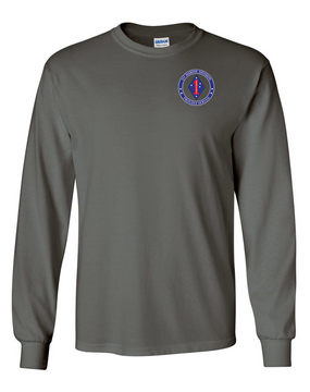 1st Marine Division Long-Sleeve Cotton T-Shirt -Proud