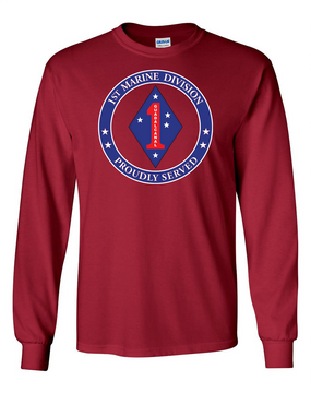 1st Marine Division Long-Sleeve Cotton T-Shirt -Proud -FF