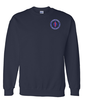 1st Marine Division Embroidered Sweatshirt  -Proud