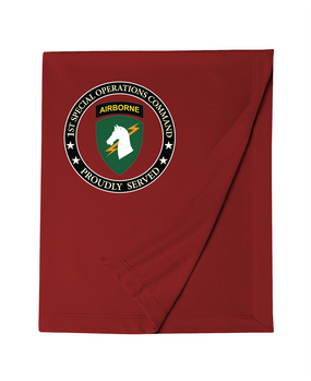 1st Special Operations Command Embroidered Dry-blend Stadium Blanket-Proud
