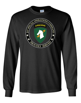1st Special Operations Command Long-Sleeve Cotton T-Shirt -Proud (FF)