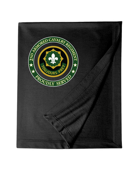 2nd Armored Cavalry Regiment Embroidered Dryblend Stadium Blanket -Proud