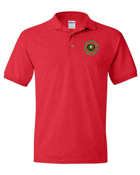 2nd Armored Cavalry Regiment Embroidered Cotton Polo Shirt -Proud