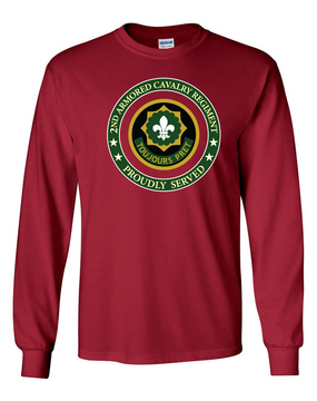 2nd Armored Cavalry Regiment Long-Sleeve Cotton Shirt  -Proud (FF)