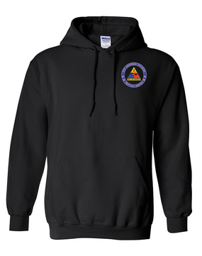 2nd Armored Division Embroidered Hooded Sweatshirt -Proud