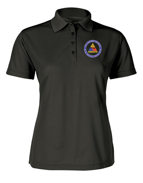 Ladies 2nd Armored Division Embroidered Moisture Wick Polo Shirt  -Proud