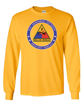 2nd Armored Division Long-Sleeve Cotton Shirt-Proud  (FF)