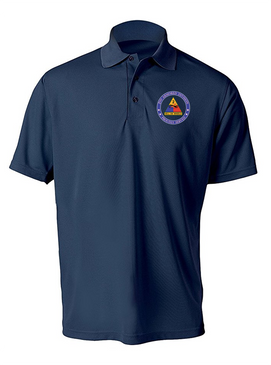 2nd Armored Division Embroidered Moisture Wick Shirt -Proud