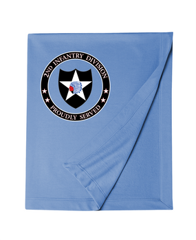 2nd Infantry Division Embroidered Dryblend Stadium Blanket -Proud
