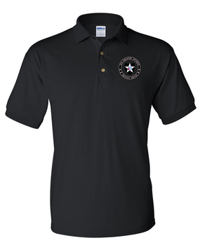 2nd Infantry Division Embroidered Cotton Polo Shirt -Proud