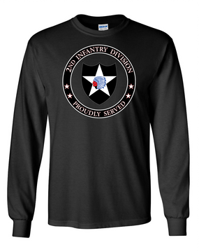 2nd Infantry Division Long-Sleeve Cotton Shirt -Proud (FF)