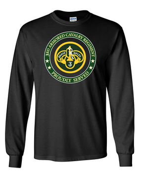 3rd Armored Cavalry Regiment Long-Sleeve Cotton Shirt  -Proud (FF)