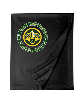3rd Armored Cavalry Regiment Embroidered Dryblend Stadium Blanket -Proud