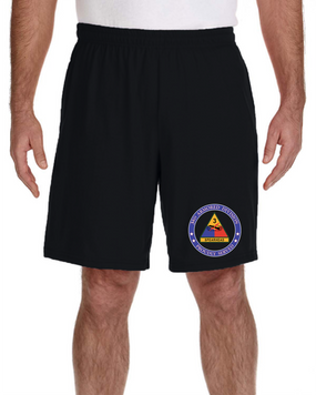 3rd Armored Division Embroidered Gym Shorts-Proud