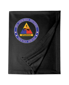 3rd Armored Division Embroidered Dryblend Stadium Blanket -Proud
