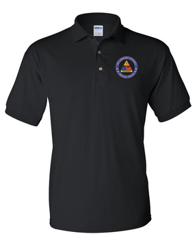 3rd Armored Division Embroidered Cotton Polo Shirt -Proud