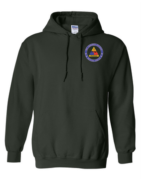 3rd Armored Division Embroidered Hooded Sweatshirt -Proud