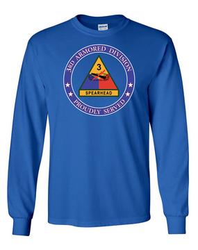 3rd Armored Division Long-Sleeve Cotton Shirt-Proud (FF)