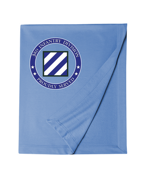 3rd Infantry Division Embroidered Dryblend Stadium Blanket -Proud