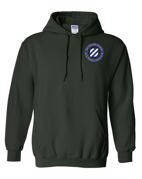3rd Infantry Division Embroidered Hooded Sweatshirt -Proud
