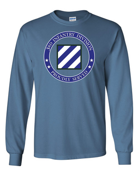 3rd Infantry Division Long-Sleeve Cotton Shirt -Proud  FF