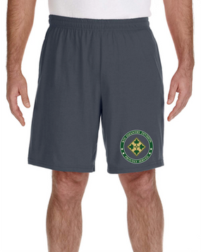 4th Infantry Division Embroidered Gym Shorts-Proud