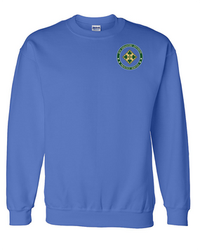 4th Infantry Division Embroidered Sweatshirt -Proud
