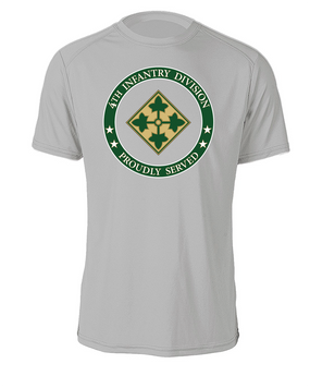 4th Infantry Division Cotton T-Shirt -Proud (FF)