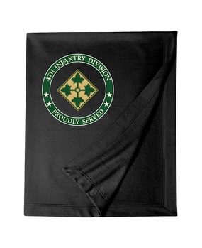 4th Infantry Division Embroidered Dryblend Stadium Blanket -Proud