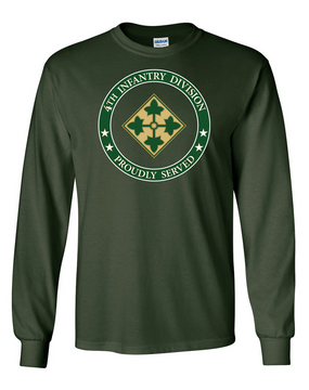 4th Infantry Division Long-Sleeve Cotton Shirt -Proud FF