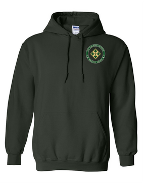4th Infantry Division Embroidered Hooded Sweatshirt -Proud