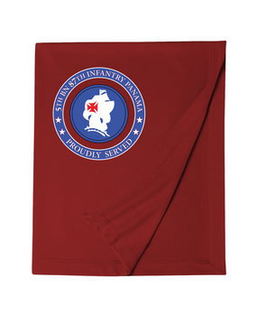 5th Battalion 87th Infantry Embroidered Dryblend Stadium Blanket-Proud