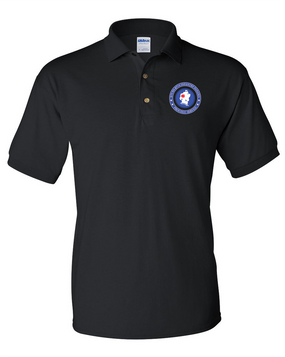 5th Battalion 87th Infantry Embroidered Cotton Polo Shirt -Proud