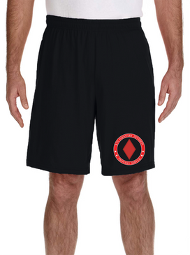 5th Infantry Division Embroidered Gym Shorts-Proud