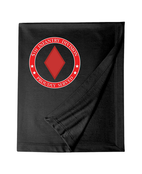 5th Infantry Division Embroidered Dryblend Stadium Blanket -Proud