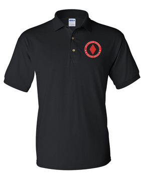 5th Infantry Division Embroidered Cotton Polo Shirt -Proud
