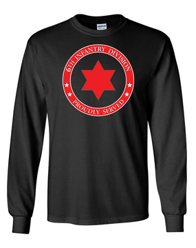 6th Infantry Division Long-Sleeve Cotton T-Shirt  -Proud  FF