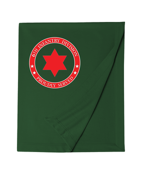 6th Infantry Division Embroidered Dryblend Stadium Blanket -Proud