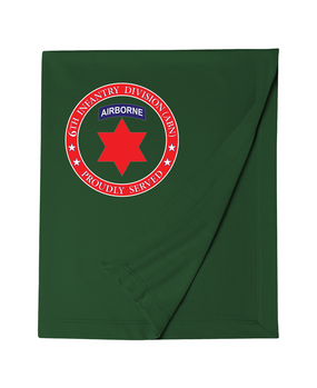 6th Infantry Division (Airborne) Embroidered Dryblend Stadium Blanket-Proud