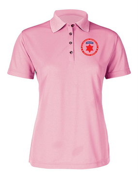 6th Infantry Division (Airborne) Ladies Embroidered Moisture Wick Polo Shirt -Proud