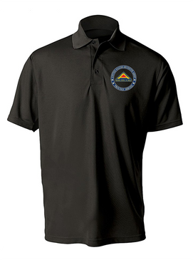 United States 7th Army Embroidered Moisture Wick Polo  Shirt-Proud