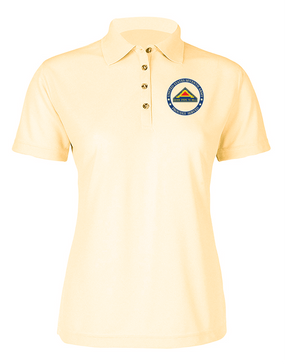 United States 7th Army Ladies Embroidered Moisture Wick Polo Shirt -Proud