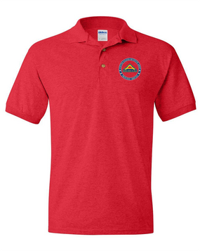 United States 7th Army Embroidered Cotton Polo Shirt-Proud