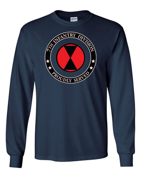 7th Infantry Division Long-Sleeve Cotton T-Shirt-Proud   FF