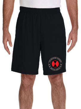 7th Infantry Division Embroidered Gym Shorts-Proud