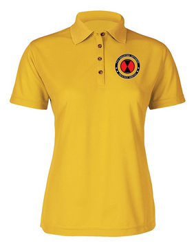7th Infantry Division Ladies Embroidered Moisture Wick Polo Shirt -Proud