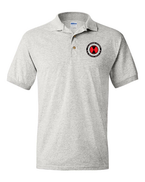 7th Infantry Division Cotton Embroidered Cotton Polo Shirt -Proud