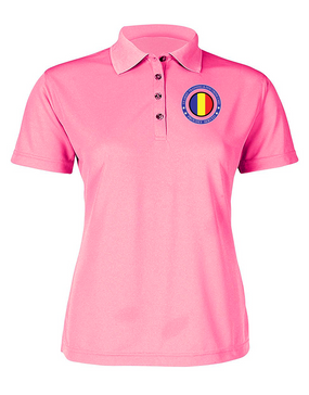 TRADOC Ladies Embroidered Moisture Wick Polo Shirt -Proud