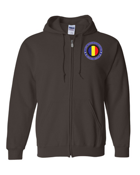 TRADOC Embroidered Hooded Sweatshirt with Zipper-Proud