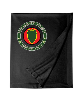 24th Infantry Division Embroidered Dryblend Stadium Blanket -Proud